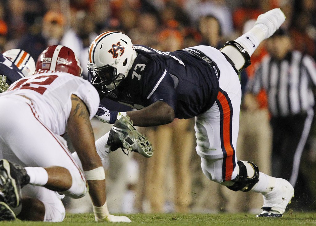 . <p><b>2. St. Louis: Greg Robinson, OT, Auburn. </b> <p>The Rams once had a running back named Greg Robinson, but this huge version will be a lot better.  (AP Photo/Butch Dill, File)