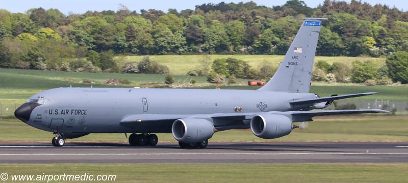 58-0046 KC135T US Air Force @ Prestwick Airport (EGPK)
