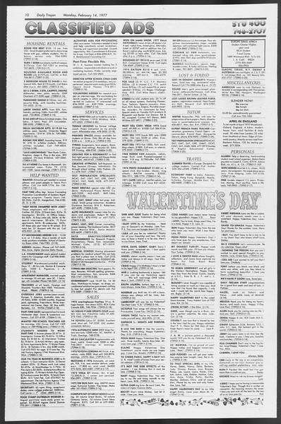 Daily Trojan, Vol. 71, No. 5, February 14, 1977
