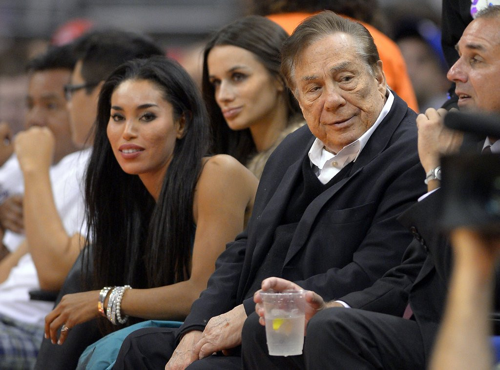 """. 1. DONALD STERLING: Behind every racist 80-year-old billionaire is a twentysomething �girlfriend.� With a tape recorder. (unranked) <p><b><a href=\'http://deadspin.com/exclusive-the-extended-donald-sterling-tape-1568291249\' target=\""""_blank\""""> LINK </a></b> <p>    (AP Photo/Mark J. Terrill)"""