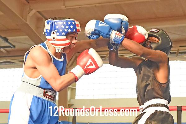 Bout 8 Adel Mason, Blue Gloves, DNA Level C B.C. -vs- Louis Burgos, Red Gloves, Freddies Boxing, 110 lb Junior Div. Championship