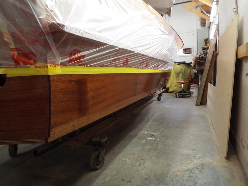 Rear starboard view of epoxy applied.