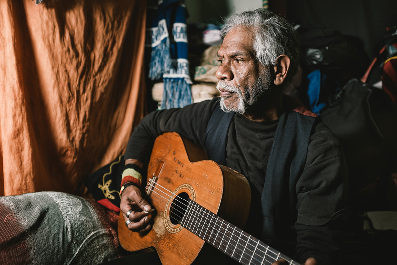 Wurundjeri Elder Playing Guitar
