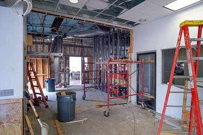 Showroom rough construction