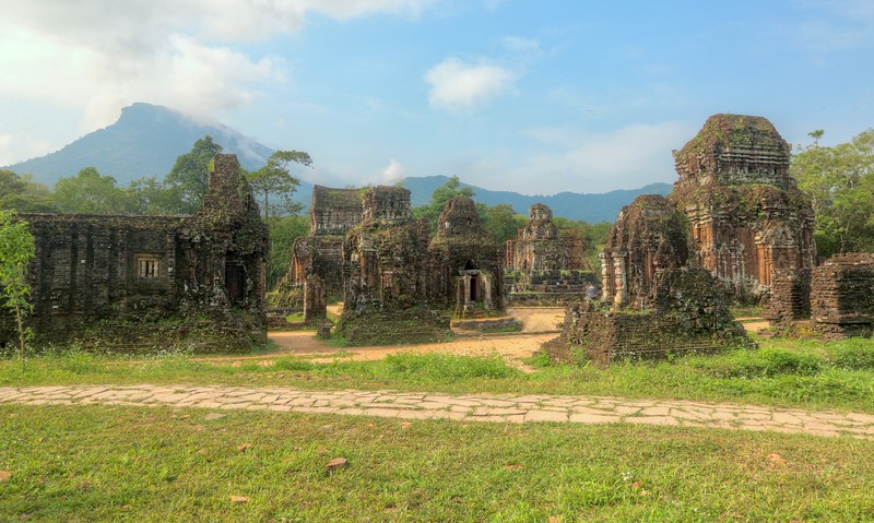 The abandoned ruins at Mỹ Sơn - constructed between the 4th and 14th centuries by the kings of Champa - 30 miles outside of Old Town Hội An