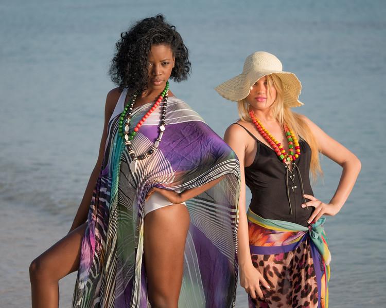 Models on the beach, Havana