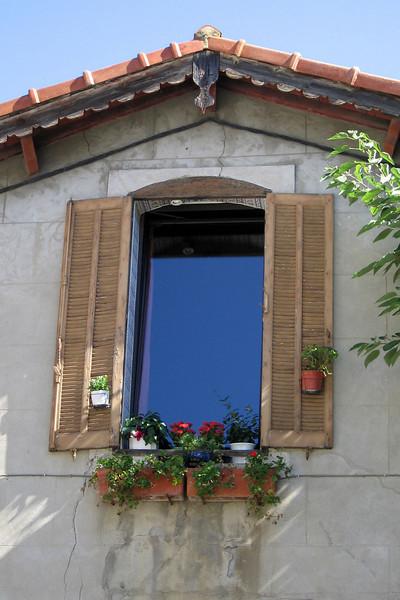 Reflecting blue sky in Arles