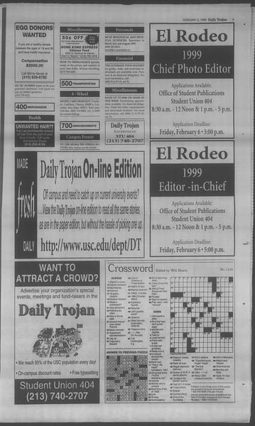 Daily Trojan, Vol. 133, No. 20, February 06, 1998