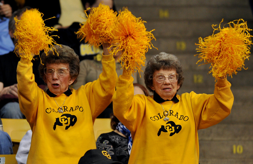 . BOULDER, CO. - MARCH 23: Colorado Buffaloes fans cheer the team during the first round of the 2013 NCAA women\'s Basketball Tournament game against Kansas Jayhawks at Coors Events Center. Boulder, Colorado. March 23, 2013. (Photo By Hyoung Chang/The Denver Post)