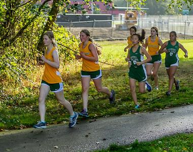 High School Girls Race, Cross Country Nisqually Meet 2 on Vashon Island 2018 10/02/2018