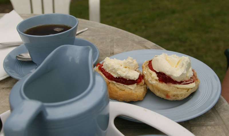 Cream tea - clotted cream is soooo good!