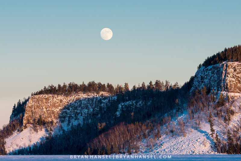 Wolf Moon over Clearwater Lake