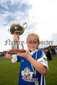 Newry Bosco Jack Mackin Memorial Tournament,Sofie Keenan, Captain Warrenpoint  winners of the Tournament.RS1431705