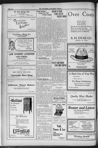 The Southern California Trojan, Vol. 12, No. 33, November 24, 1920
