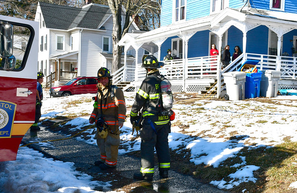 2/4/2019 Mike Orazzi | Staff The scene of kitchen fire a multi-family home on Prospect Street in Bristol on Monday. No injuries were reported and the fire was out when the fire department arrived.