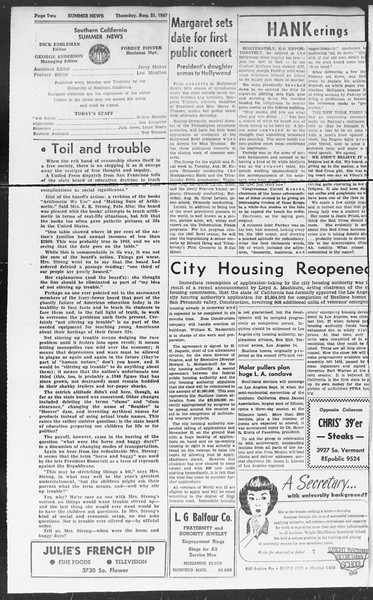 Summer News, Vol. 2, No. 23, August 21, 1947