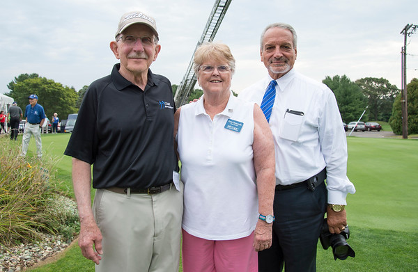 09/11/19 Wesley Bunnell | StaffrrCCARC held their annual golf tournament on Wednesday September 11, 2019 at Timberlin Golf Club in Berlin. Co chairs of the tournmant John Barbieri, Patty Strazzulla and honorary co chair Paul Salina.