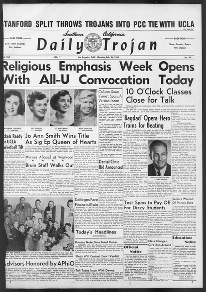 Daily Trojan, Vol. 42, No. 79, February 26, 1951