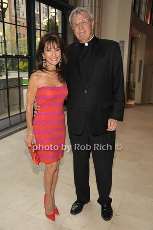 Susan Lucci, Monsignor Peter Garry   photo  by Rob Rich © 2014 robwayne1@aol.com 516-676-3939
