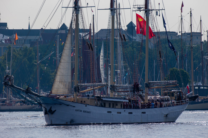 Kaptain Borchardt during Tall Ships Race 2013 in Riga