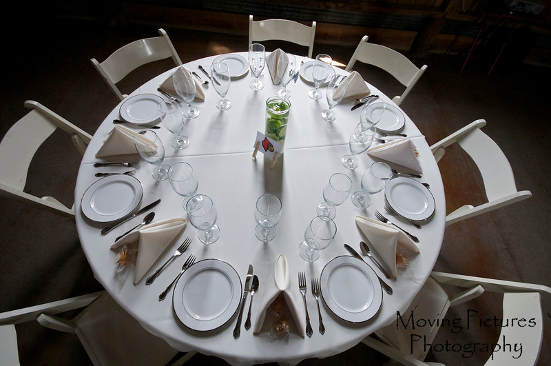 Table setting at the reception