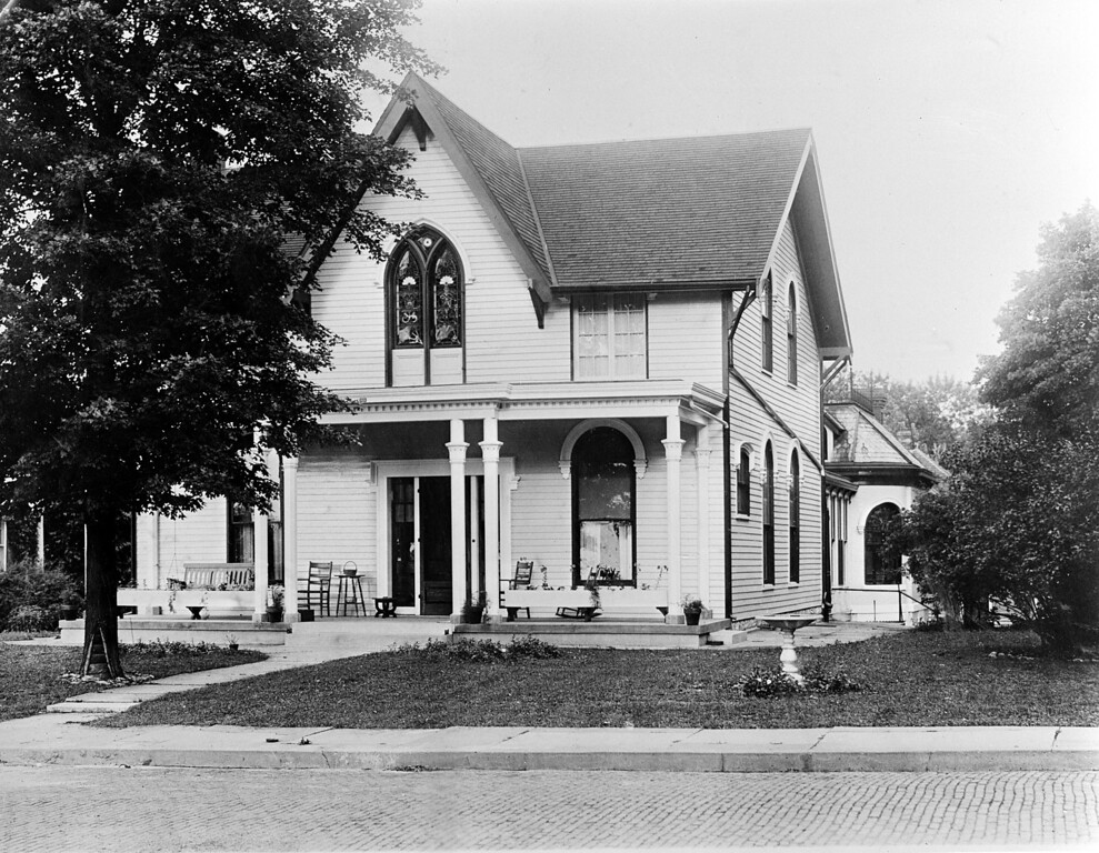 . This July 4, 1937 photo shows a general view of the place of birth of American aviator Amelia Earhart, in Atchinson, Kansas. (AP Photo)