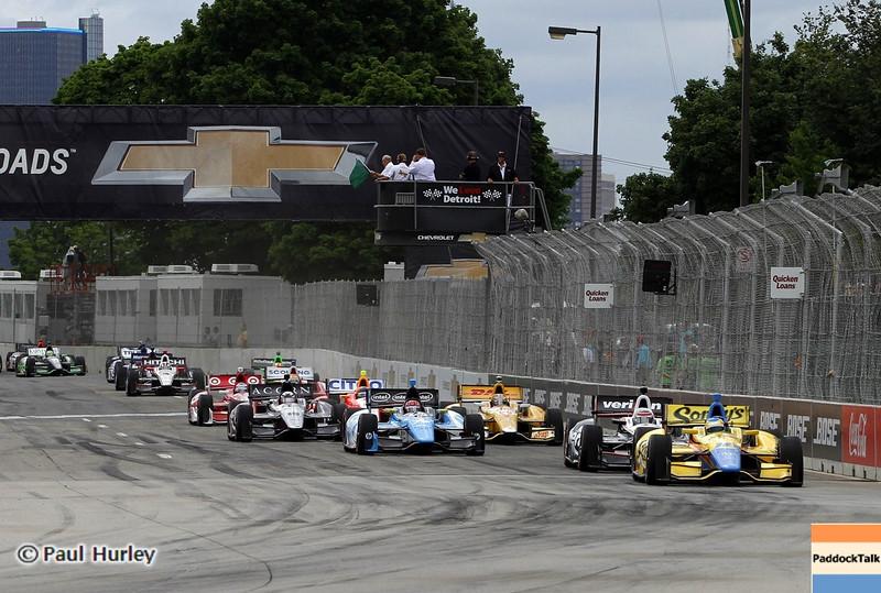 June 2: Race start during the Chevrolet Detroit Belle Isle Grand Prix.