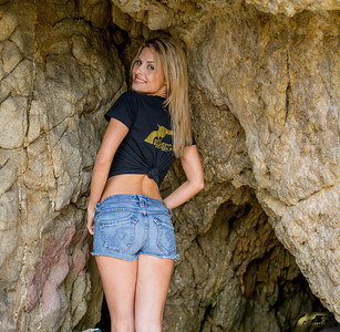PRETTY MODEL Gold 45 Goddess in Sea Cave!! Sony A7R RAW Photos of Blond Bikini Swimsuit Model Goddess! Carl Zeiss Sony FE 55mm F1.8 ZA Sonnar T* Lens! Lightroom 5.3 !