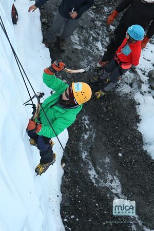 July 31 Ice Climb with Sarah