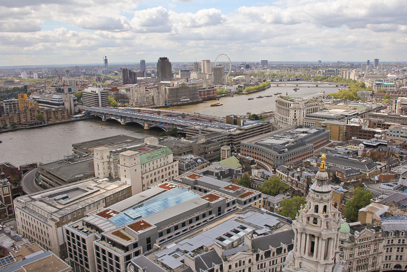 Beautiful London town as seen from St. Pauls.
