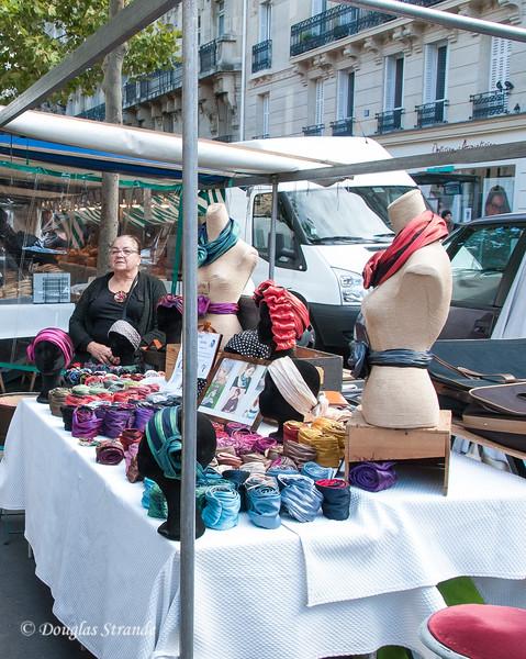 Sunday morning open market near St Sulpice church