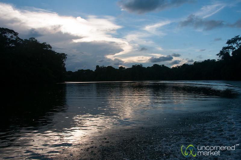 Sunset on Laguna Tortuguero - Costa Rica