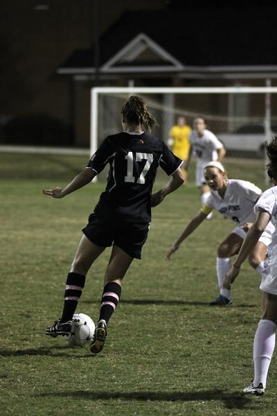 Meagan Reynolds, 17, dribbles the ball towards the goal.