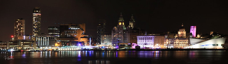 Liverpool Night Skyline