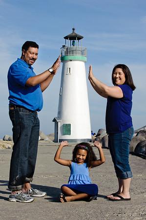 Wendy + Walt = Haley (Family Photography, Seabright Beach, Santa Cruz, California)