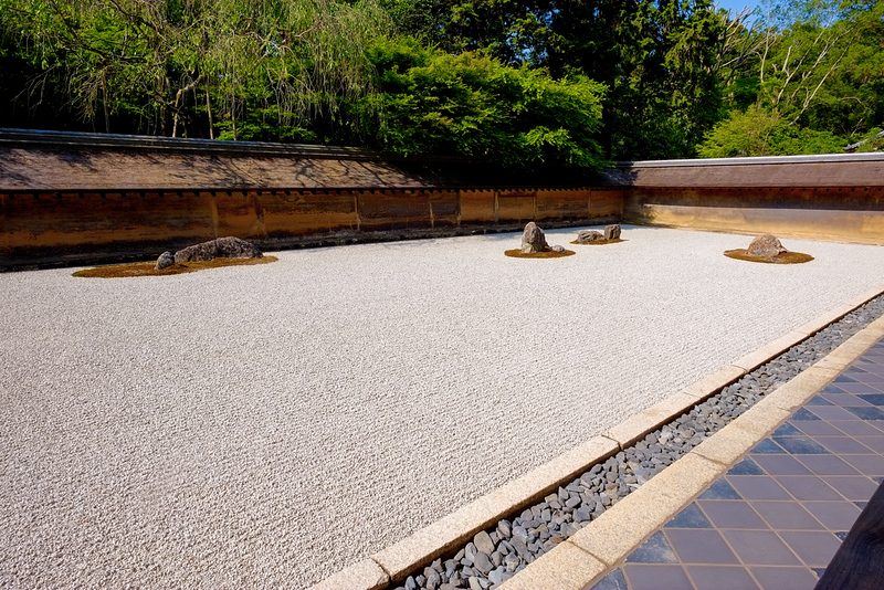 Rock garden of Ryoanji Temple