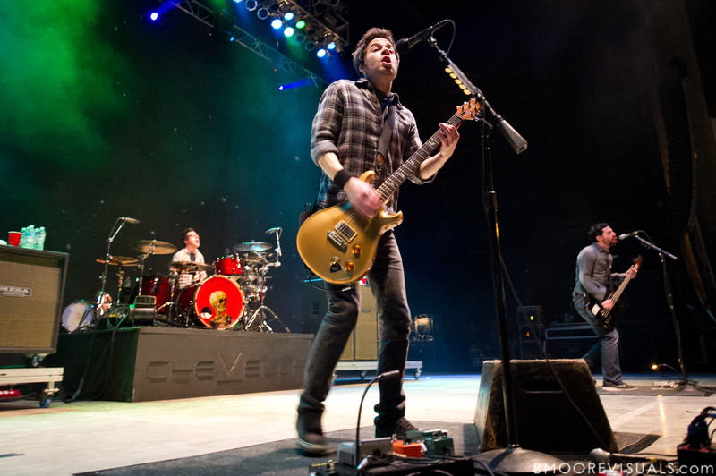 Sam Loeffler, Pete Loeffler, and Dean Bernardini of Chevelle performs on December 5, 2010 during 97X Next Big Thing at 1-800-ASK-GARY Amphitheatre in Tampa, Florida