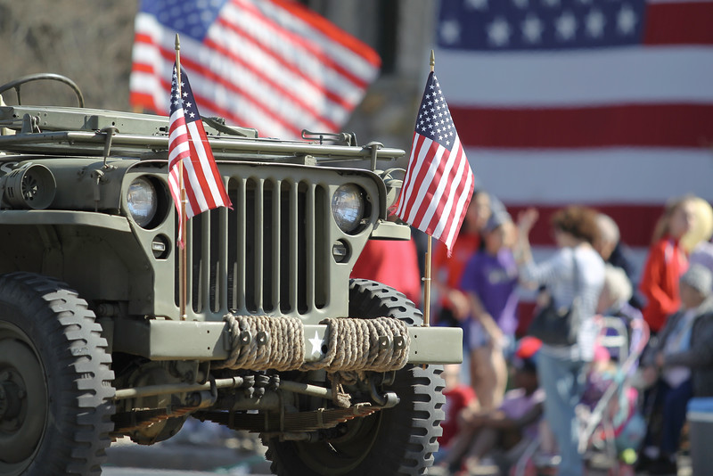 Military Jeep in Parade