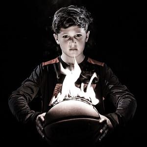 Dean Basketball on Fire