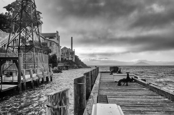 Alcatraz in B & W
