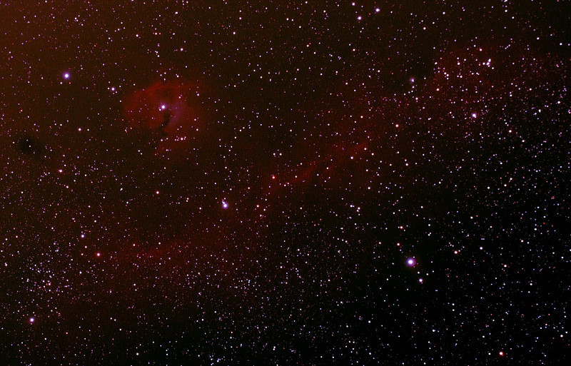 IC2177 - Gum 1&2 - Seagull Nebula - 3/1/2014 (Processed cropped stack)