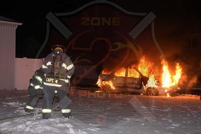 Massapequa F.D. Car Fire   Clocks Blvd.  3/8/18