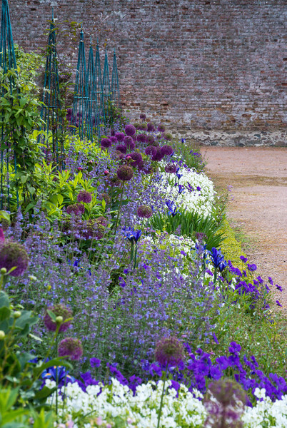 A brick walled garden was about 5 acres of colorful perennials.