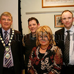 Francis Mc Mahon (branch manager newry & district alzheimers society) with l-r Michael Carr (mayor), Brian O'Hagan (chair person) and Dr Mark Mc Cauley (guest speaker at the society agm),07W ...