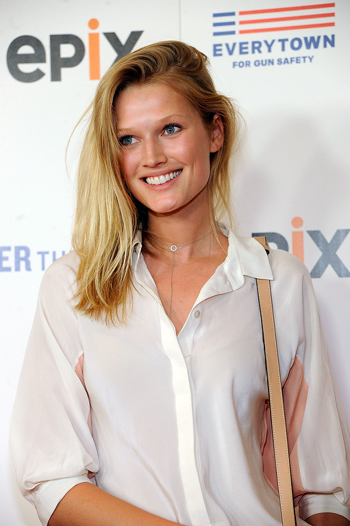 ". Toni Garrn attends the New York premiere of EPIX\'s ""Under the Gun\"" at Walter Reade theater on May 12, 2016 in New York City.  (Photo by Rabbani and Solimene Photography/Getty Images)"