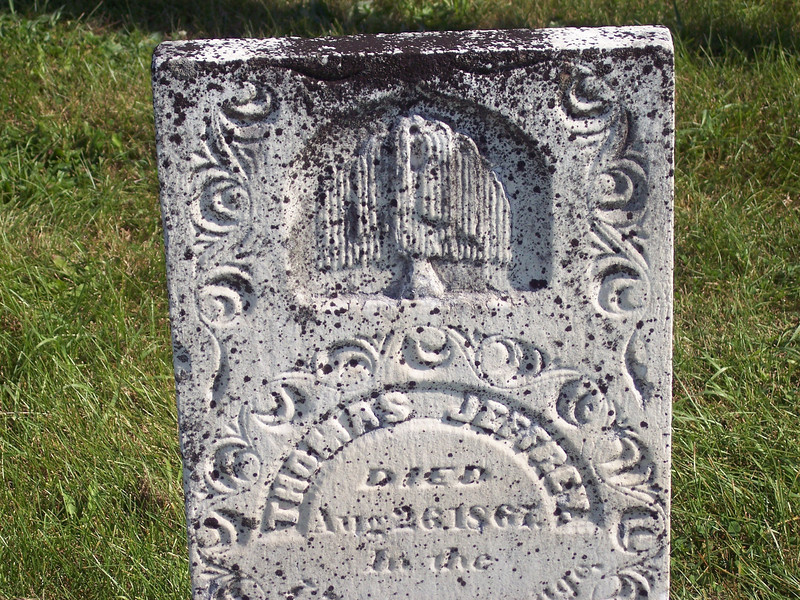 """Tyrone Cemetery, Talleyrand, Iowa.  Another """"fat willow.""""  Perhaps they were a specialty of some now-unknown local carver."""