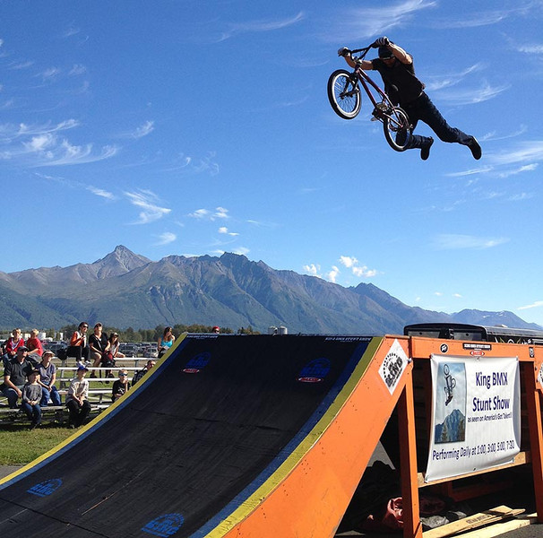 King BMX Stunt Show at the Alaska State Fair 2013