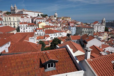 At and from Miradouro de Santa Luzia
