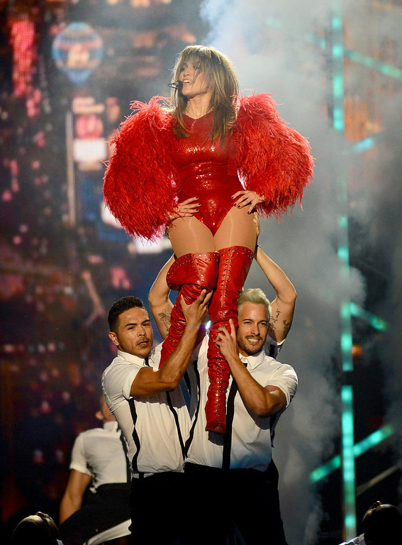 . Singer Jennifer Lopez performs onstage during the 2013 Billboard Music Awards at the MGM Grand Garden Arena on May 19, 2013 in Las Vegas, Nevada.  (Photo by Ethan Miller/Getty Images)