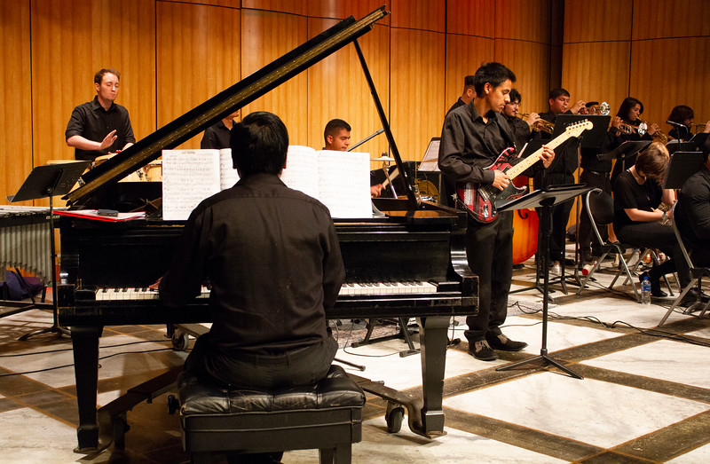 The BC Jazz Band plays the music of the Beatles in the Indoor Theater.